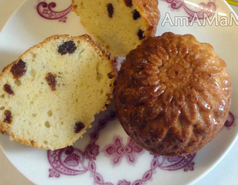 Как делают кексы с изюмом - рецепт и фото