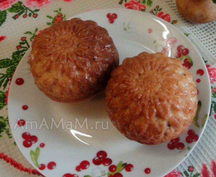 Рецепт кекса столичного в формочках