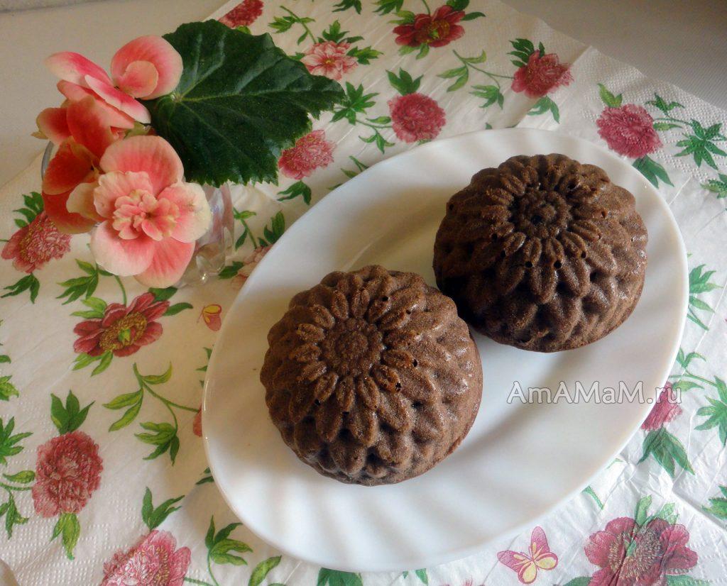 Как испечь шоколадные кексы с шоколадной начинкой - вкусно и просто