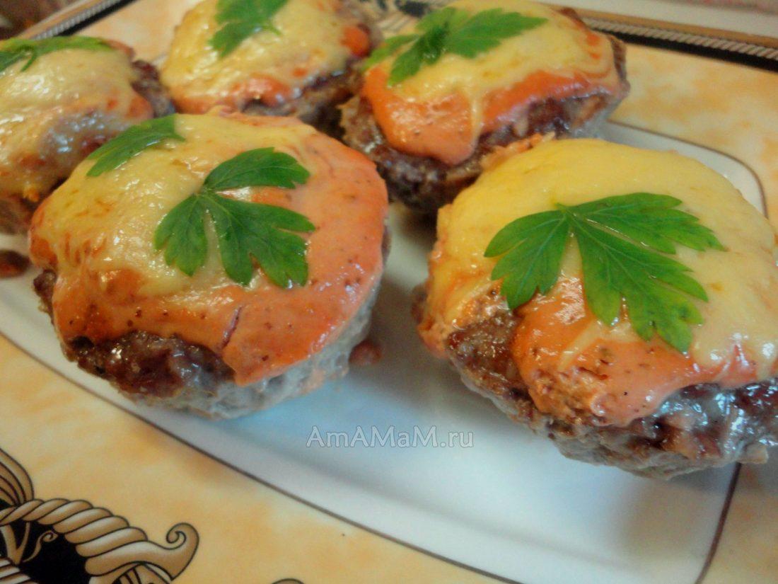 Мясные биточки в духовке рецепт