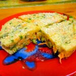 Соленый манник с зеленым горошком, стручковой фасолью и морковкой