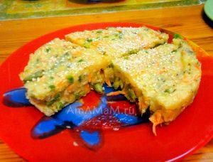 Рецепт манникак соленого - овощная начинка