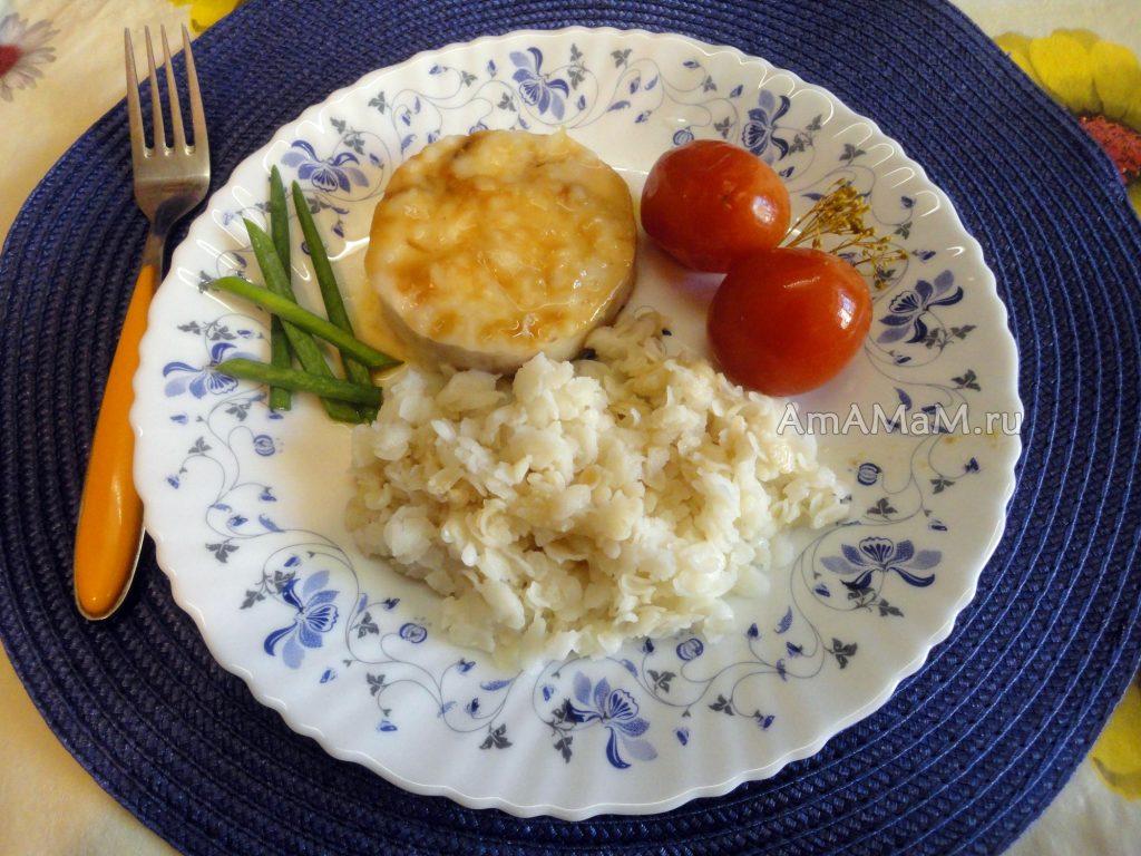 Мясо хека на пару - рецепт блюда