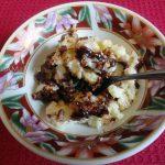 Шоколадный пудинг из риса с изюмом