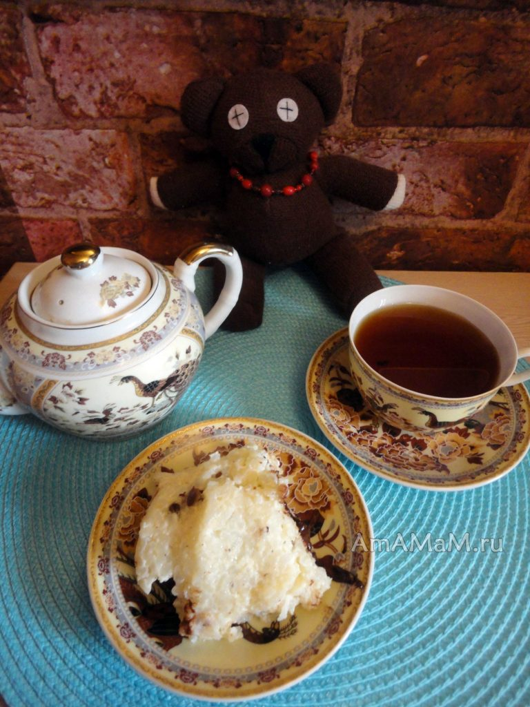 Рисовая запеканка с шоколадом и изюмом