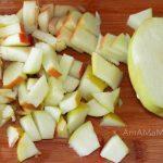 Фото нарезки яблок для капустного салата