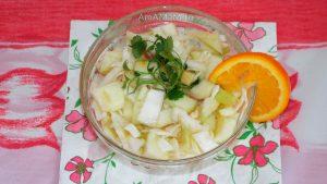 Что приготовить из капусты с яблоками и апельсином