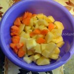 Нарезка кубиками - картошка и морковка