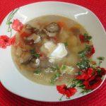 Картофельный суп с вешенками и вермишелью