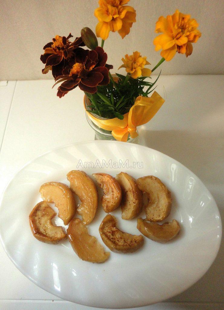 Рецепты цукатов из яблок - как засушить