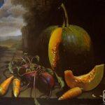 Сюрреалистичный натюрморт с овощами - свекла, морковь и тфква