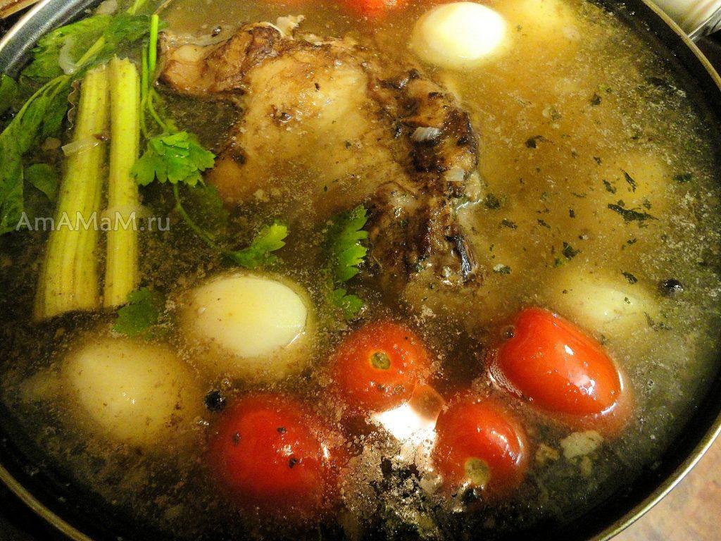 Как выглядит блюдо буглама в кастрюле (сковороде вок)