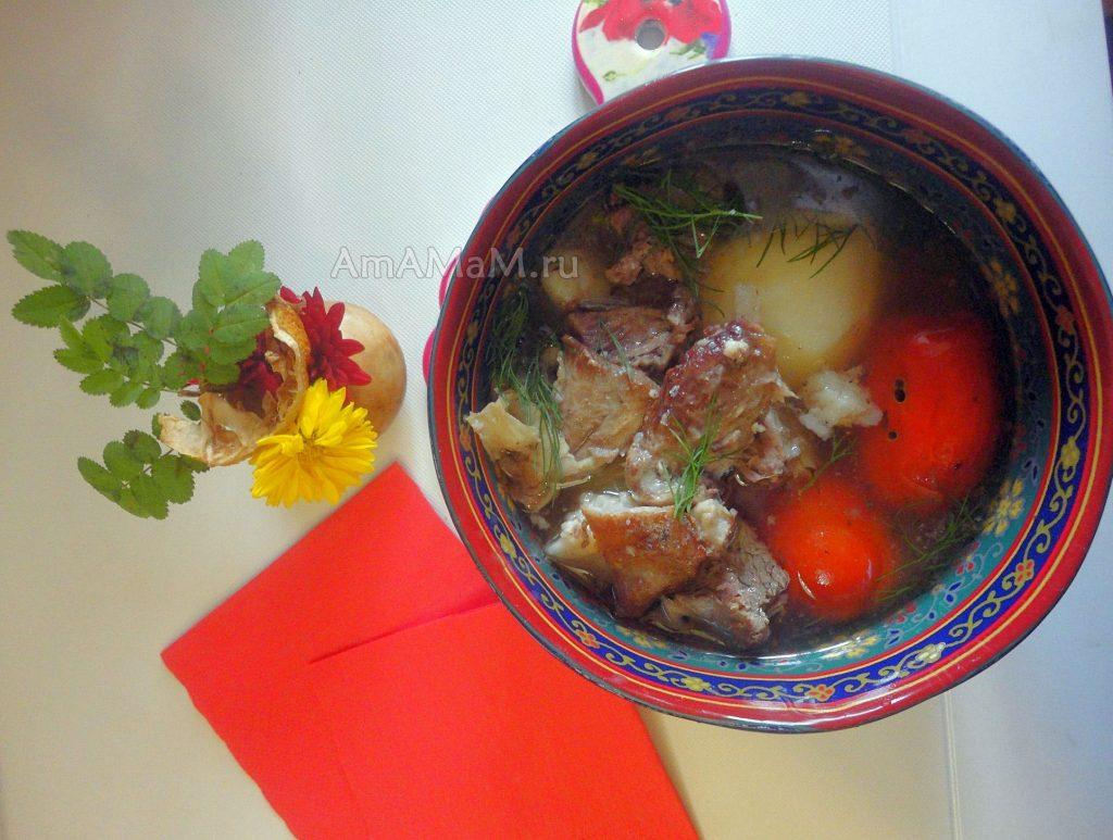 Рецепт баранины, тушеной с овощами - азербайджанская буглама