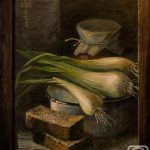 Картина с хлебом и лучком