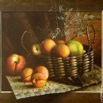 Картина вылезает за пределы рамы - фруктовый натюрморт