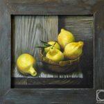Желтое на сером - лимоны
