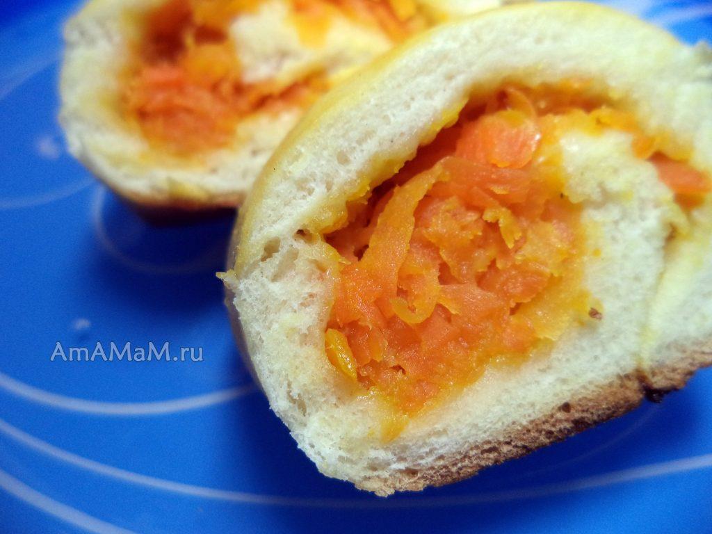 Рецепт рулета с начинкой из морковки (сладкий)