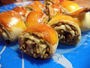 Домашнее печенье-рулетики с семечками