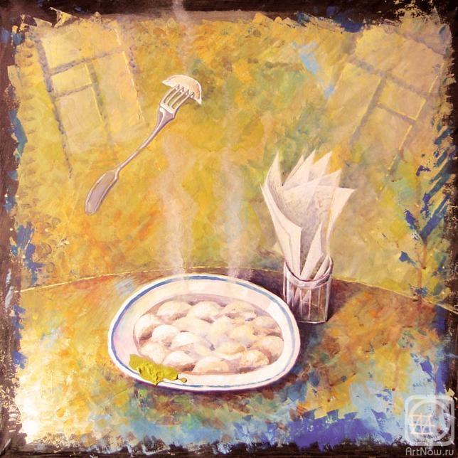 Пельменная - тарелка пельменей