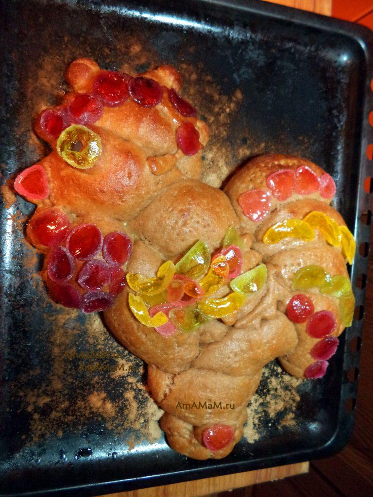 Рецепт пирога в виде Петуха на Новый год или для детей