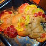 Рецепт фигурного пирога в виде петуха