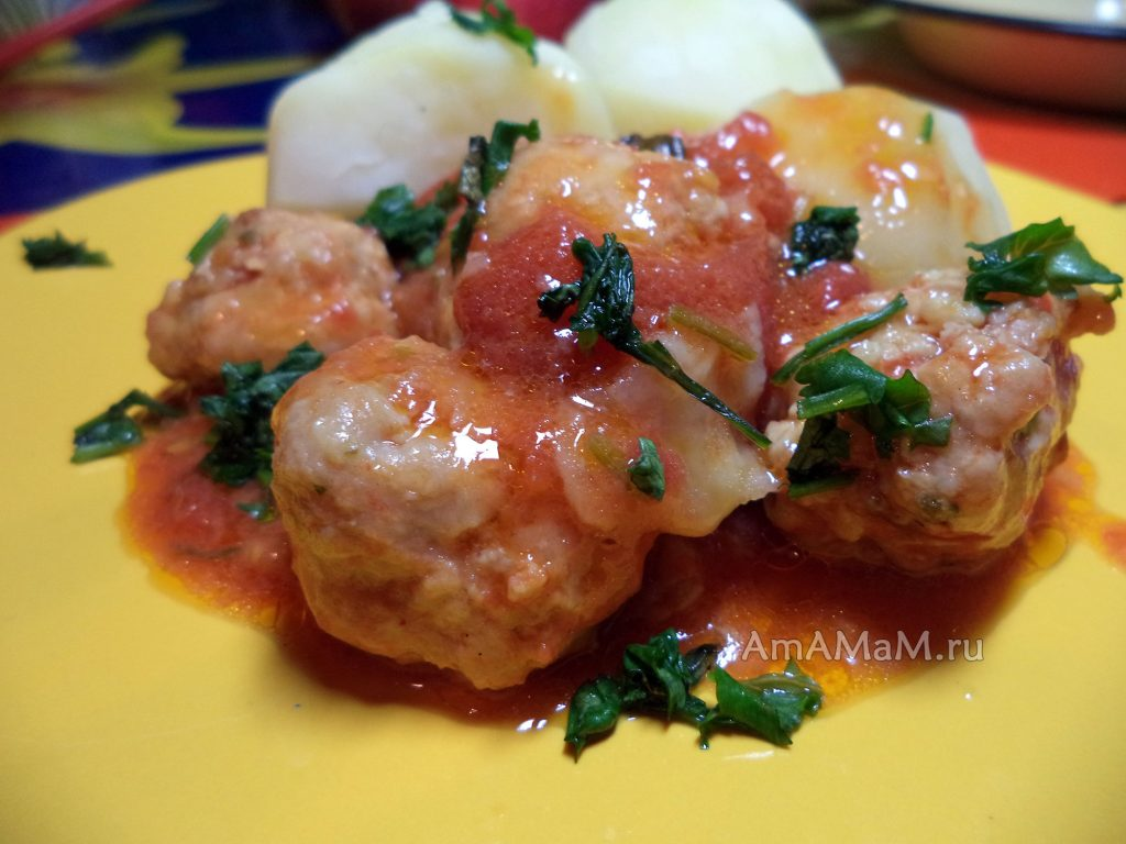 Рецепт мясной подливки из фарша в томате (тефтельки)