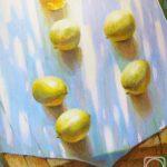 Катящиеся по зеркальной глади лимоны