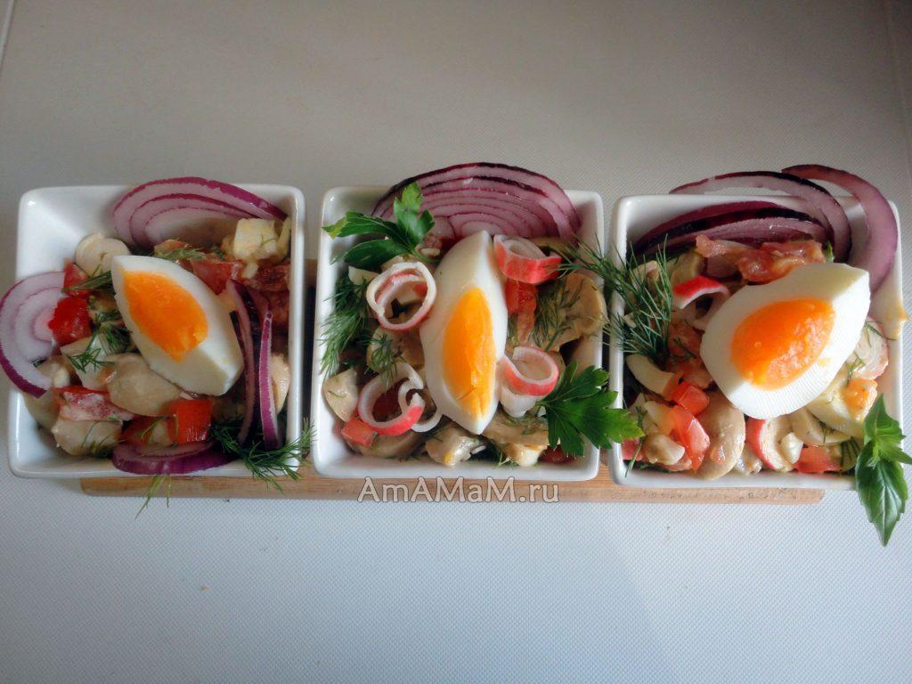 Что готовят из кальмаров - простые и вкусные салаты