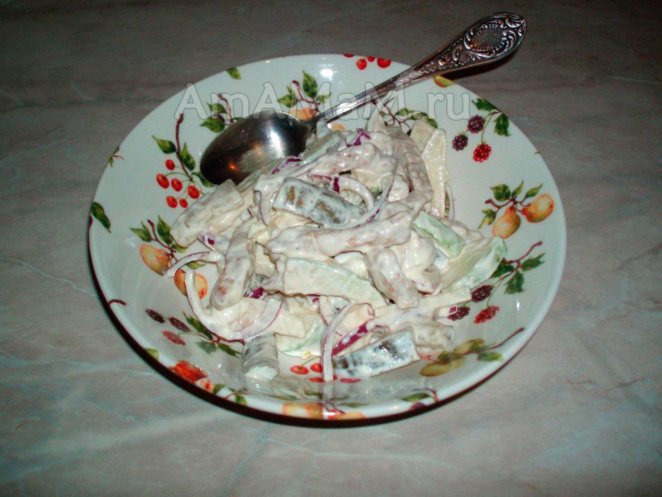 Пражский салат (мясной) - рецепт