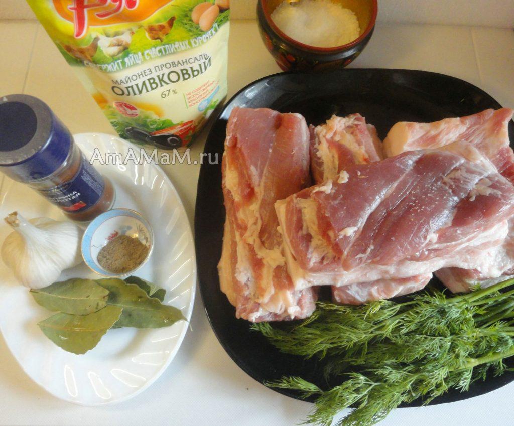 Состав продуктов для запекания сала в духовке в фольге