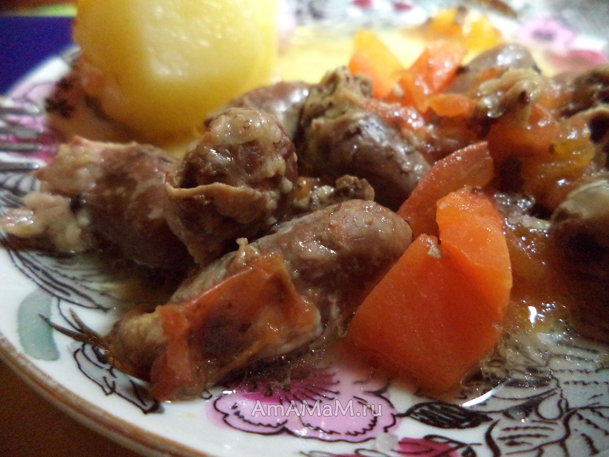 Рецепт приготовления куриных сердечек в сковороде