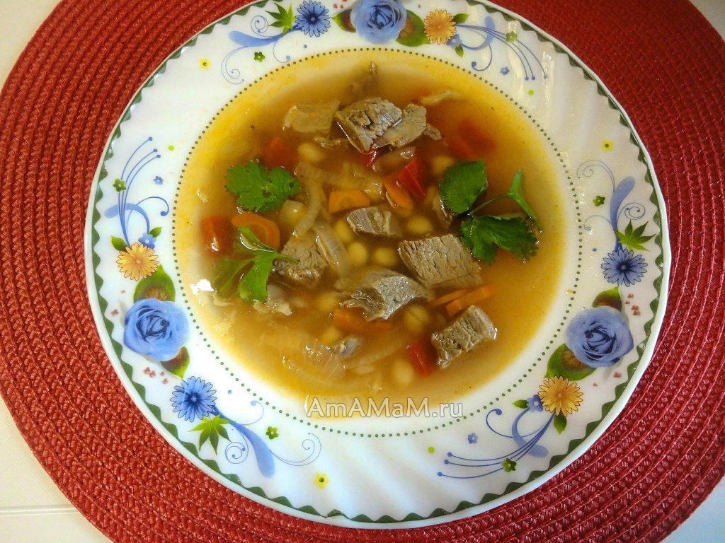 Суп из нута с бараниной - рецепт с фото