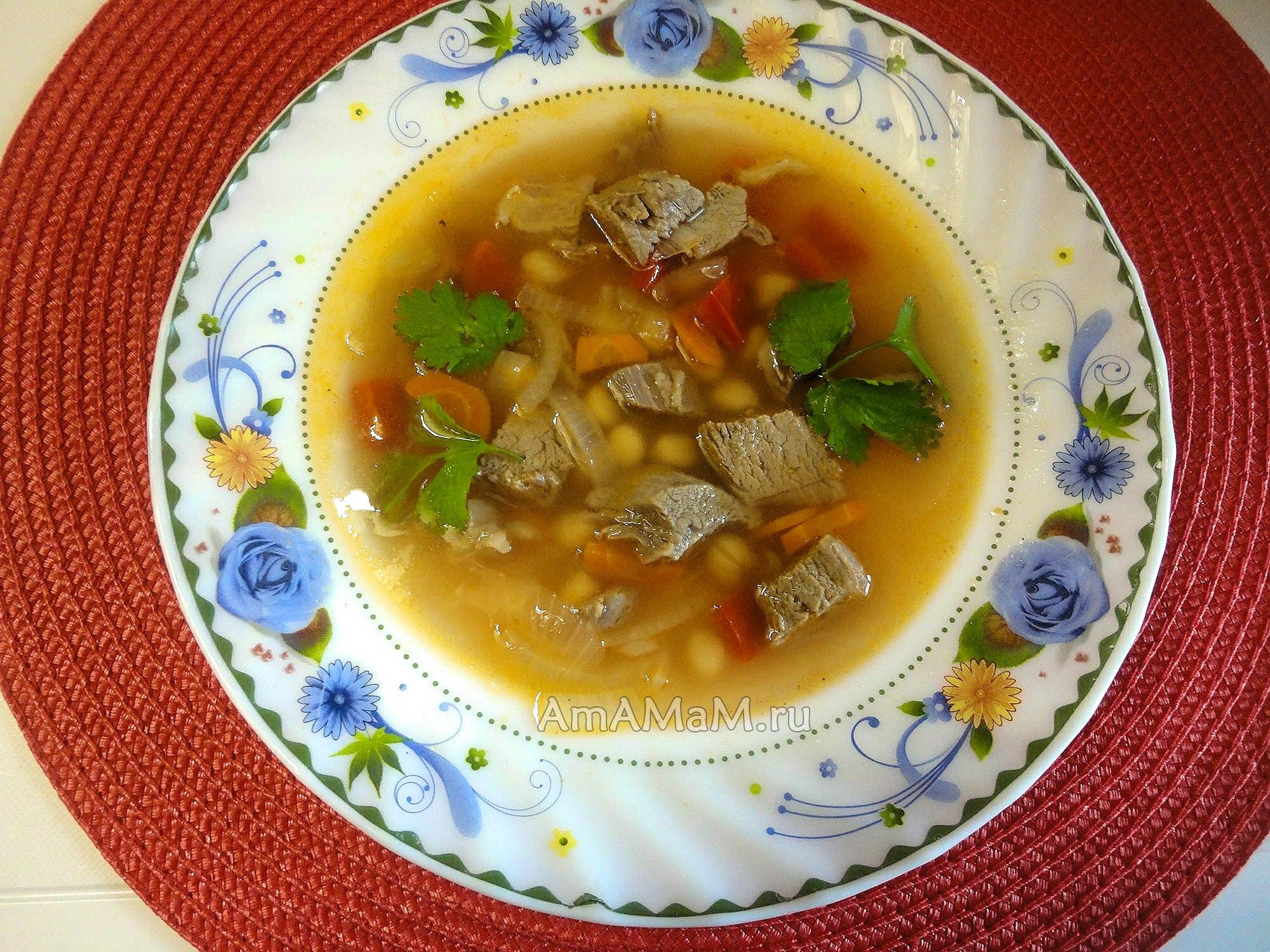рецепт суп из баранины с капустой