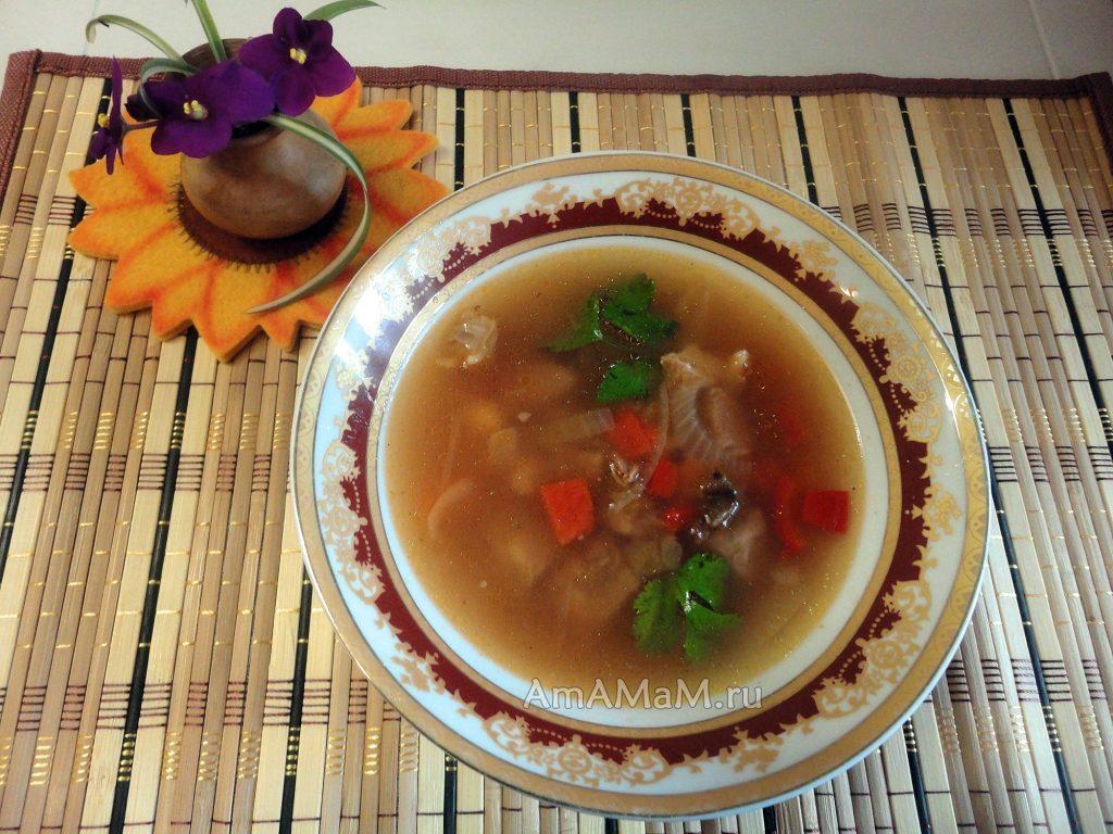 Вкусные добашиние супы с бараниной - рецепт с нутом