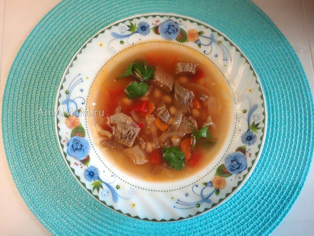 Приготовление супов с бараниной и нутом - рецепт