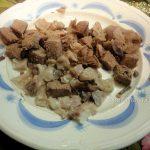Фото мелко нарезанной баранины для супа с нутом