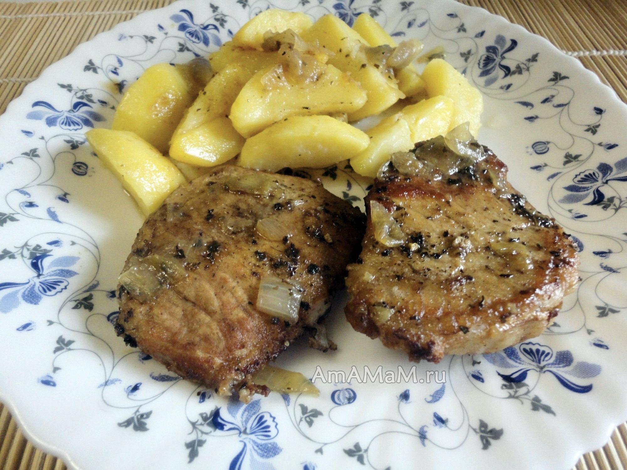 Карбонат с картошкой в духовке рецепт с пошагово