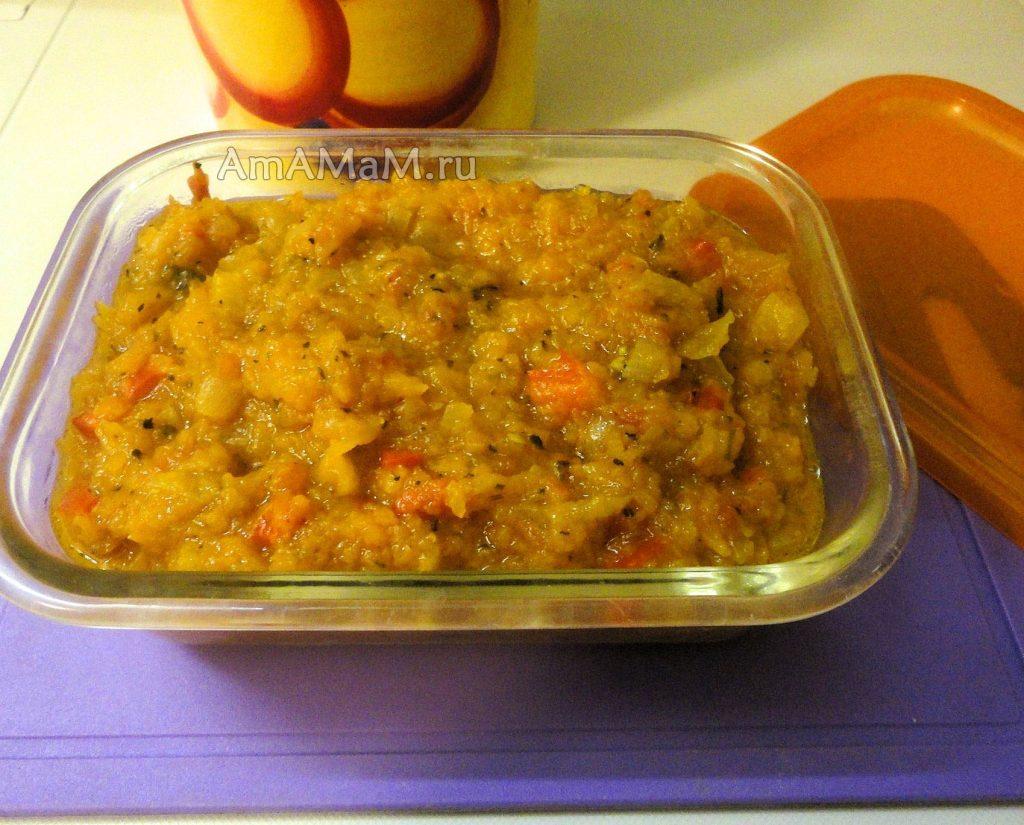 Рецепт икры из тыквы с помидором, перцем и луком