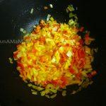 Этапы приготовления тыквенной икры - добавка сладкого перца