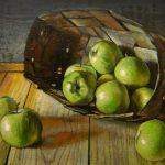 Китайские зеленые яблоки - картина художника Андрианова
