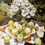 Флоксы с яблочками из сада