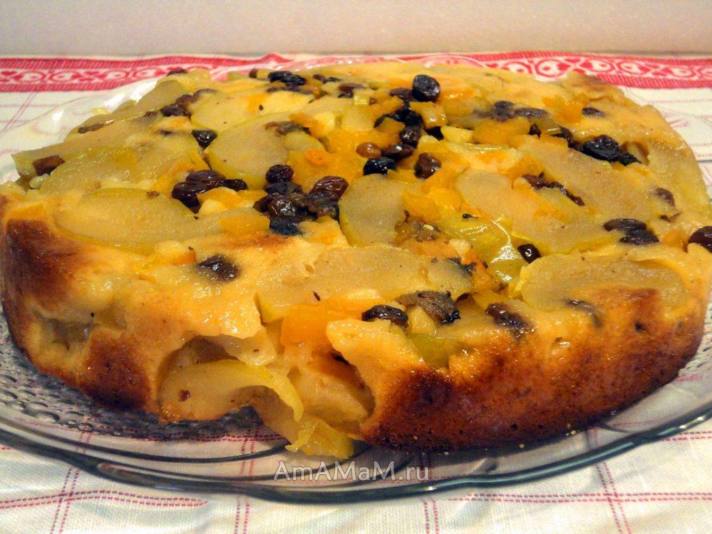 Домашние пироги с яблоками - рецепт с тыквой и изюмом