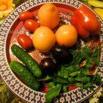 Овощи для малосольного салата