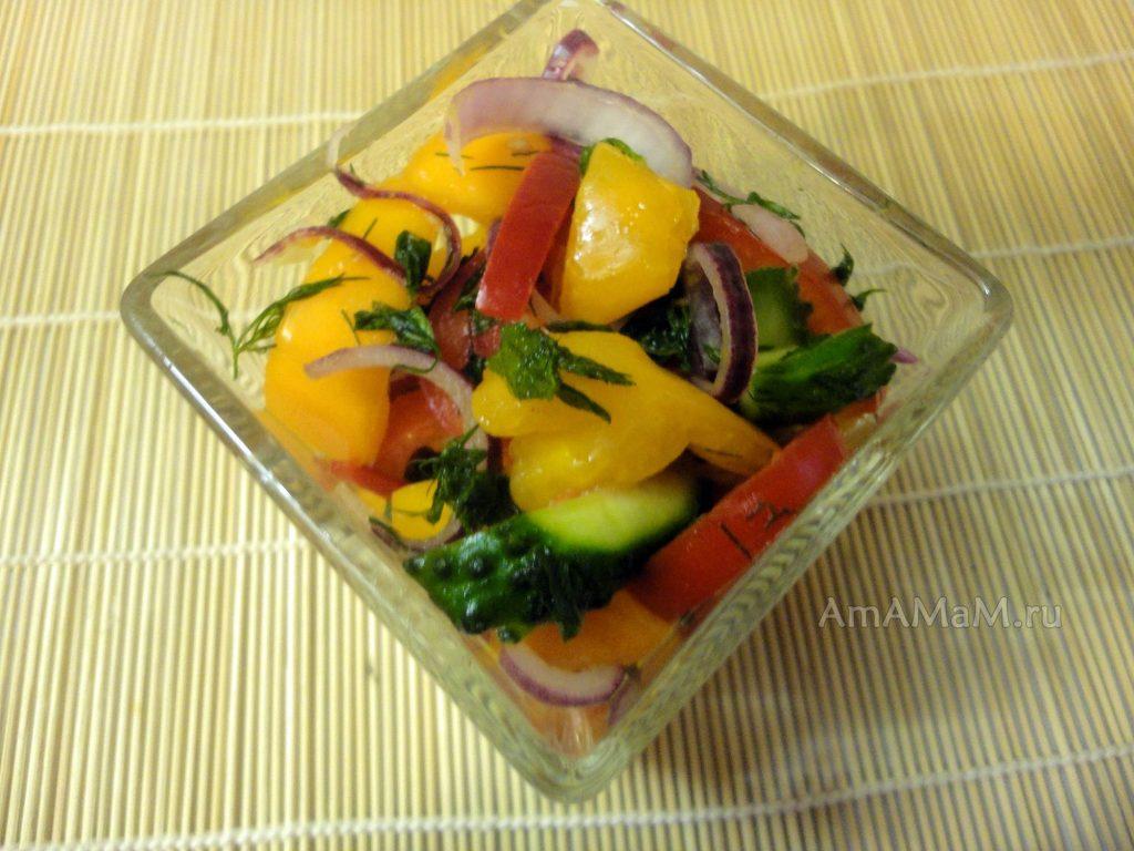 Блюда с желтыми помидорами - рецепт салата