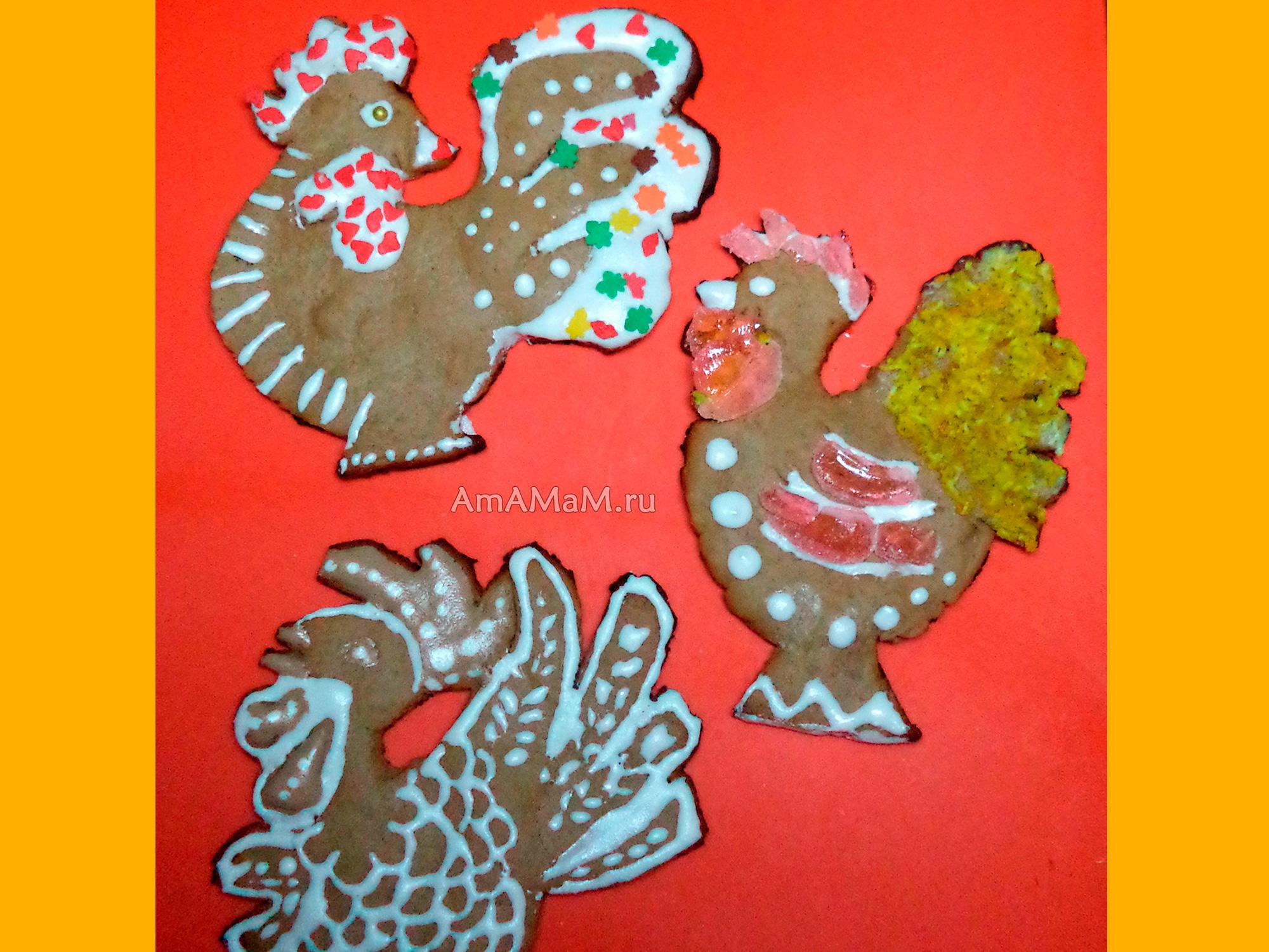 Печенье петухи