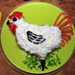 Петухи-салаты, простые рецепты с фото