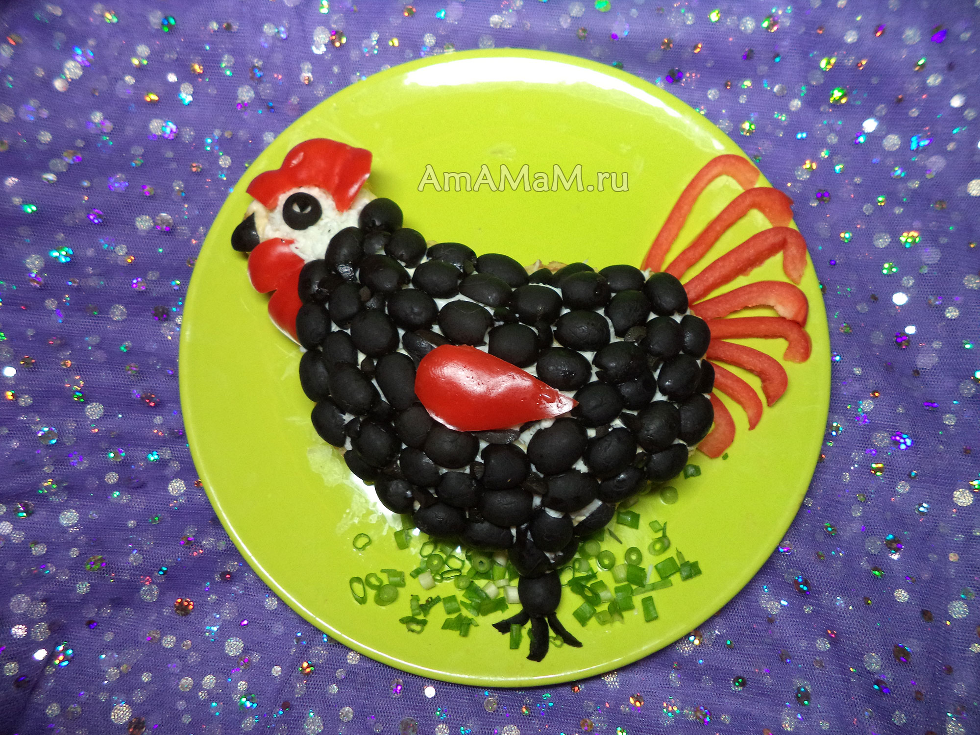 Блюда в виде петухов - из чего сделать черного петуха