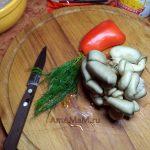 Ингредиенты для фунчозы с грибами - рецепт с фото