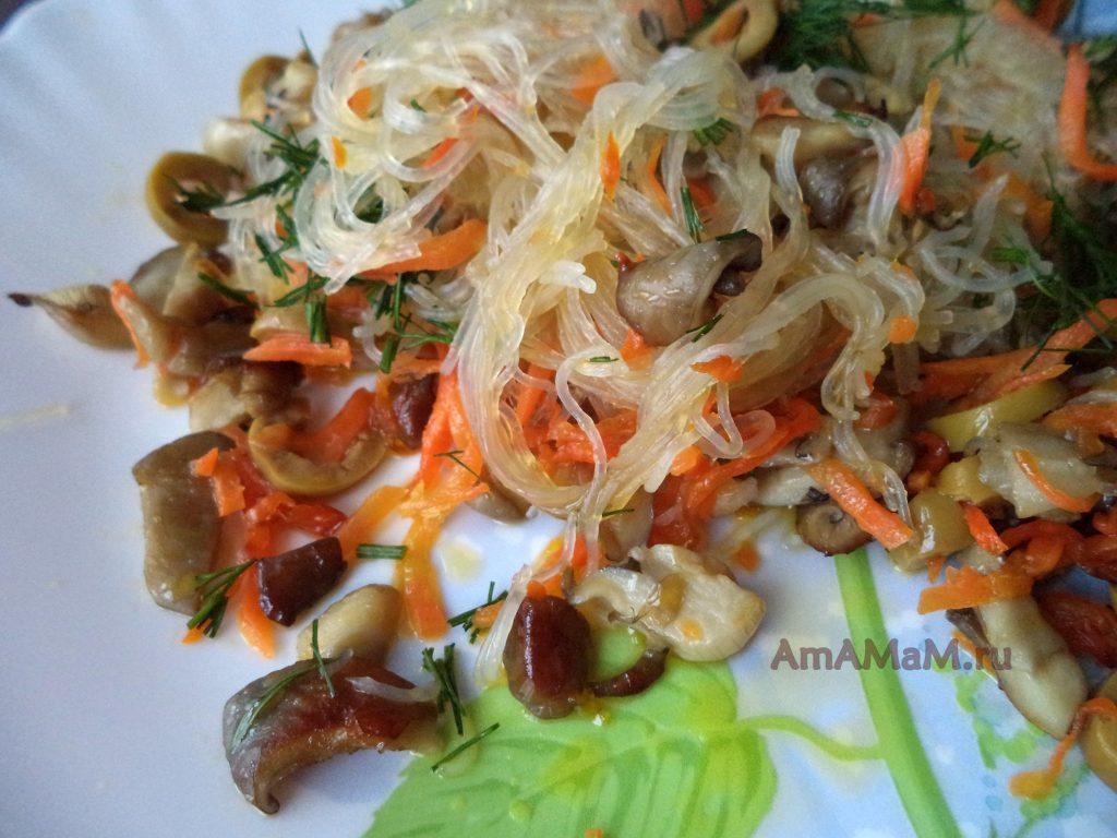 Что готовить из фунчозы - рецепт китайской стеклянной лапши