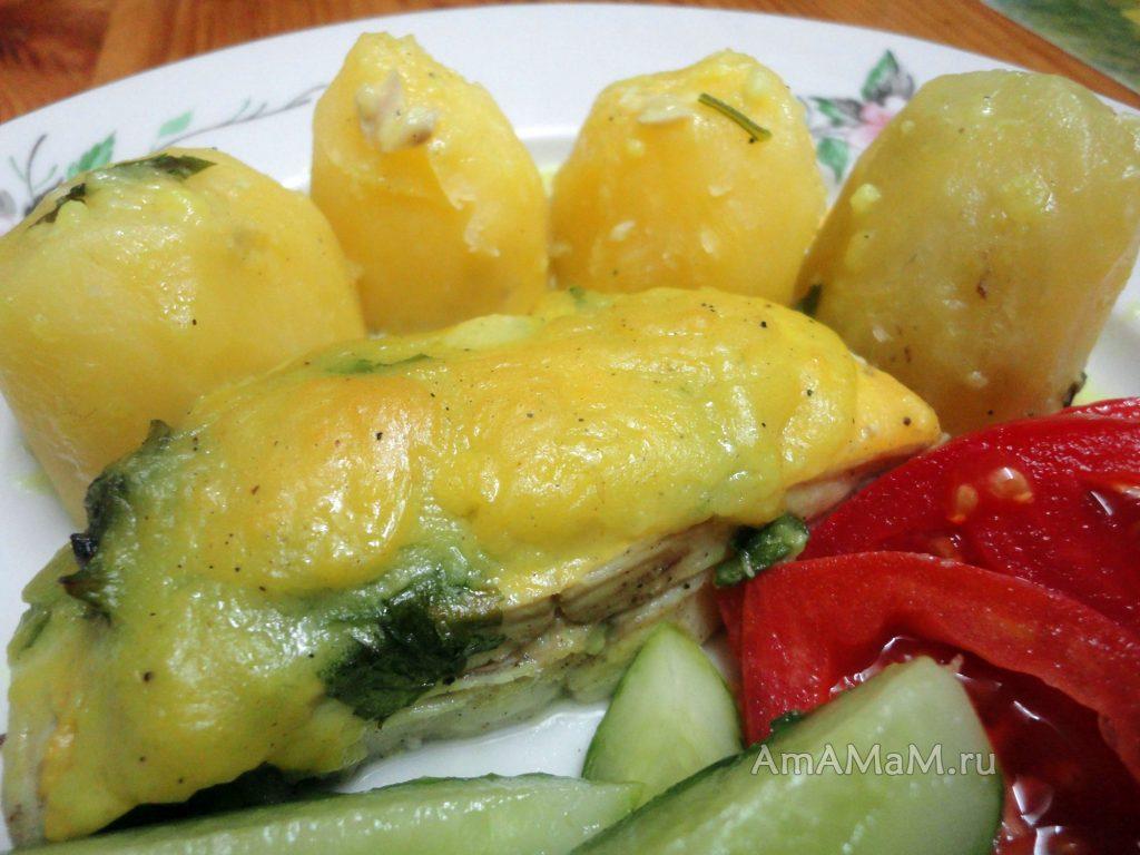 Горячее блюдо из камбалы и суп из рыбных обрезков от камбалы